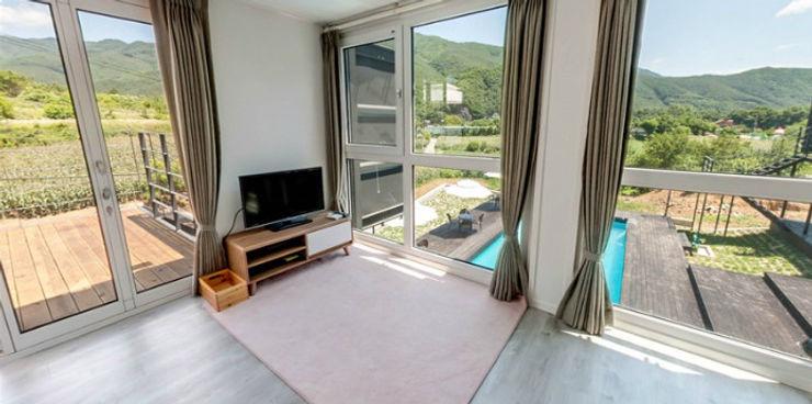 큐브디자인 건축사사무소 Modern Living Room