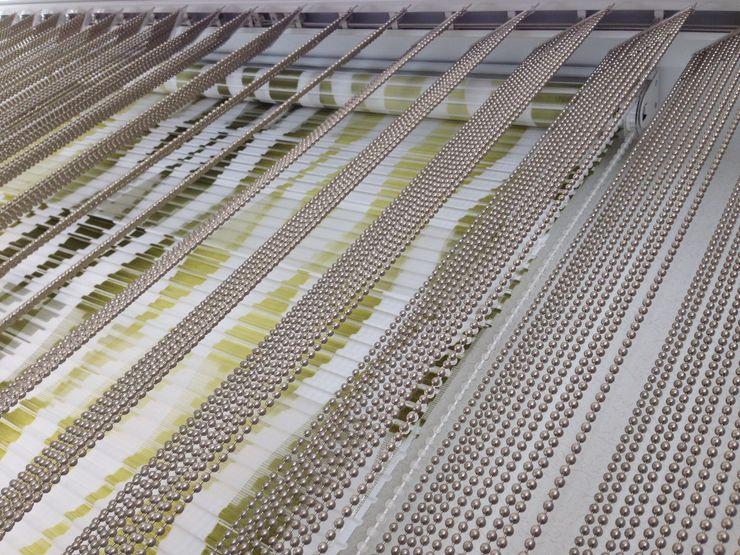 Lamellenvorhang aus Metall-Perlketten von Rollox Rollox