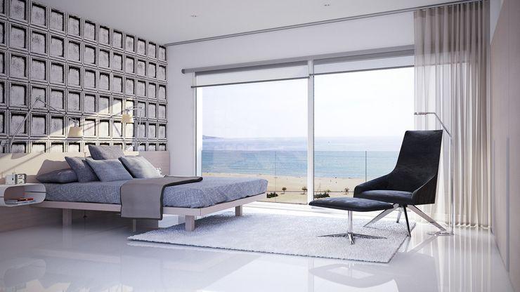 Dormitorio suite Gramil Interiorismo II - Decoradores y diseñadores de interiores Dormitorios de estilo minimalista
