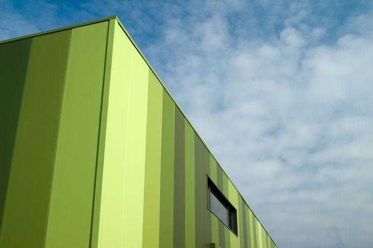 Green Unlimited - Office and Warehouse in Lampertheim-Hüttenfeld Helwig Haus und Raum Planungs GmbH Edifícios comerciais modernos