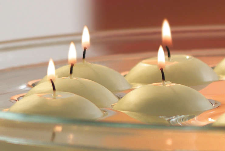 Ivory floating candles The London Candle Company HouseholdAccessories & decoration
