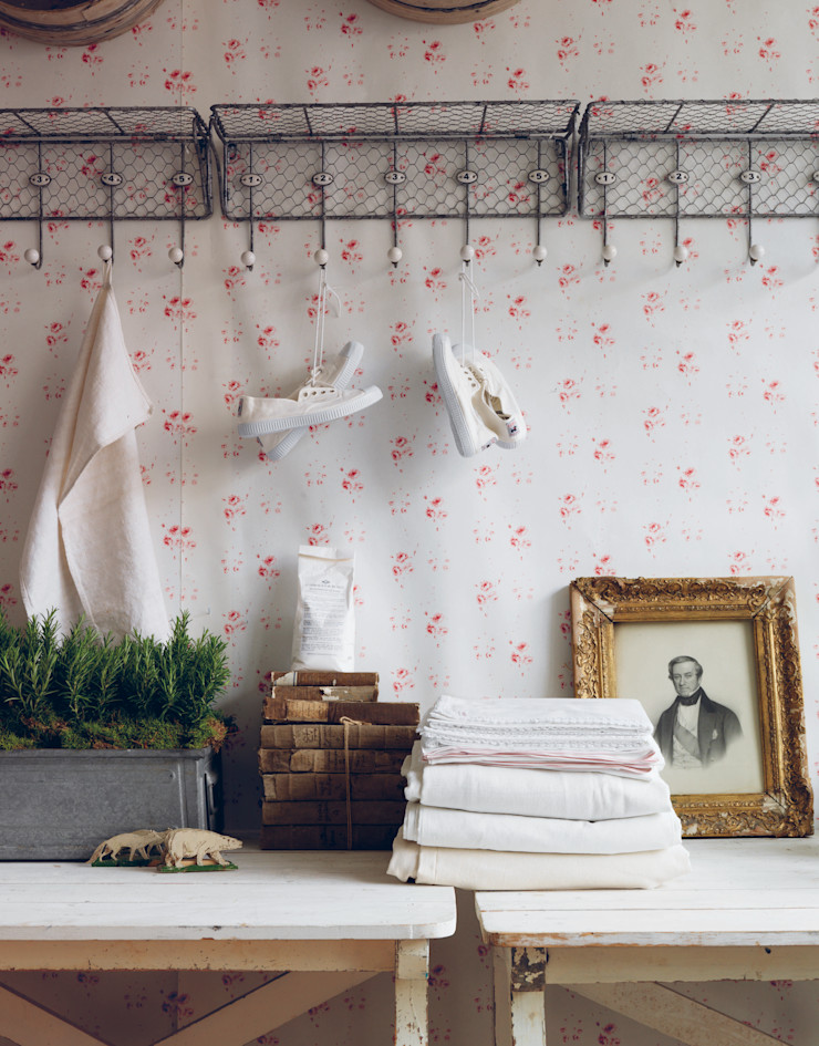 Catherine Rose Pink Wallpaper Cabbages & Roses