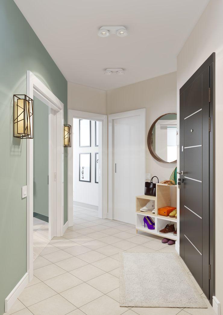 Anna Clark Interiors Modern Corridor, Hallway and Staircase