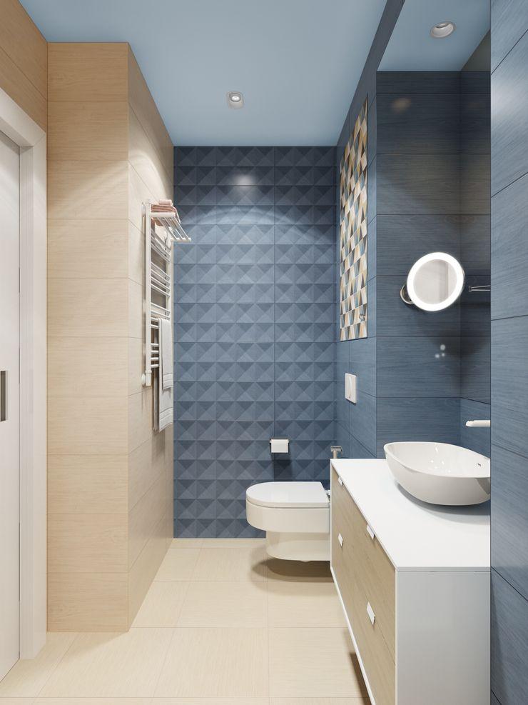 Anna Clark Interiors Modern bathroom