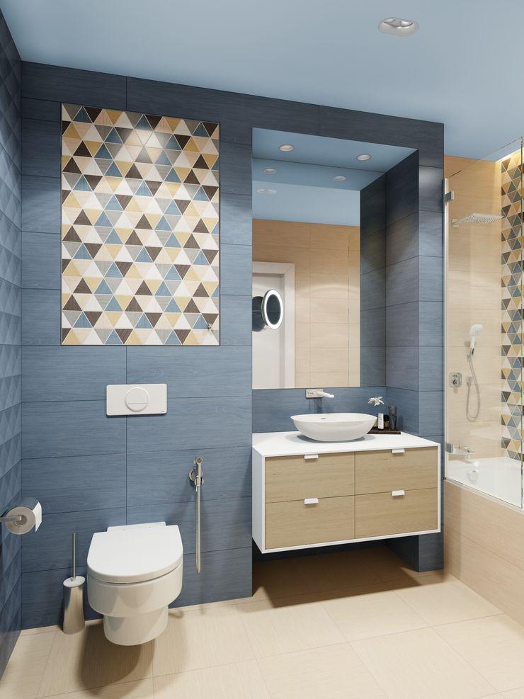 Anna Clark Interiors Scandinavian style bathroom