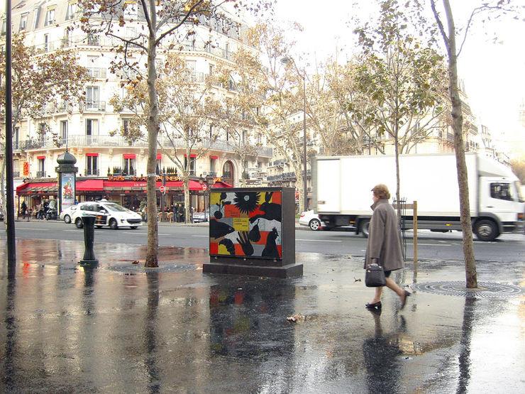 Fresque place parisienne ulrike weiss céramiques Murs & Sols modernes