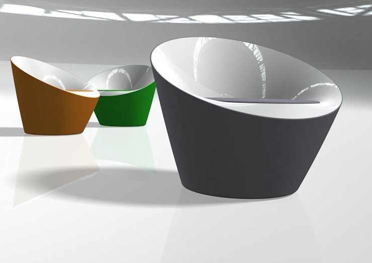 O&O&O Kataoka Design Studio Медіа-залМеблі