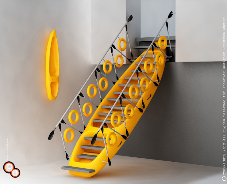 Preetham Interior Designer Hành lang, sảnh & cầu thang phong cách hiện đại