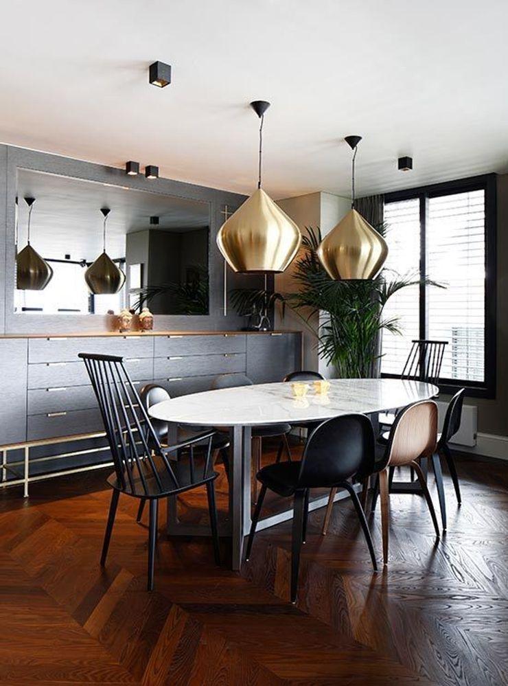 Diningroom Esra Kazmirci Mimarlik Eclectic style living room