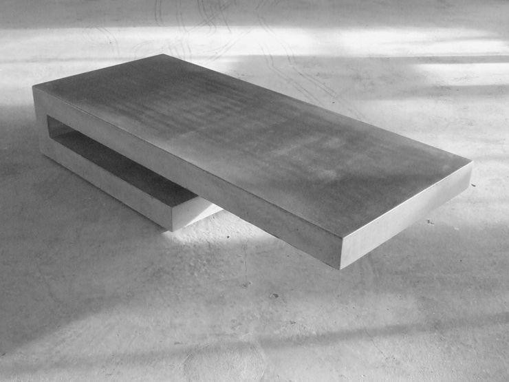 T6 couchtisch.beton homify WohnzimmerCouch- und Beistelltische Grau