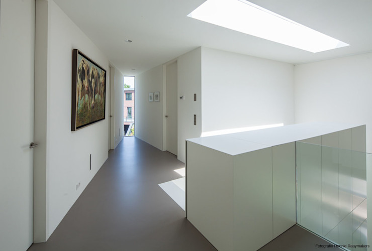 123DV Moderne Villa's Moderner Flur, Diele & Treppenhaus