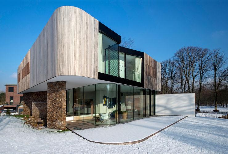 123DV Moderne Villa's Moderne Wände & Böden