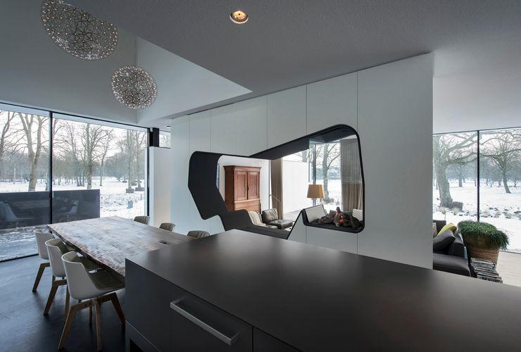 123DV Moderne Villa's Moderne Esszimmer