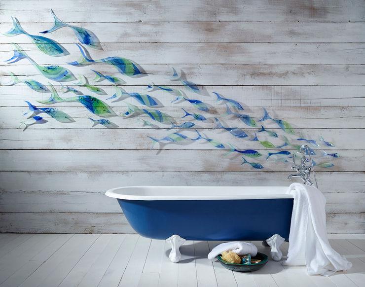 Shoaling Fish Jo Downs Modern bathroom