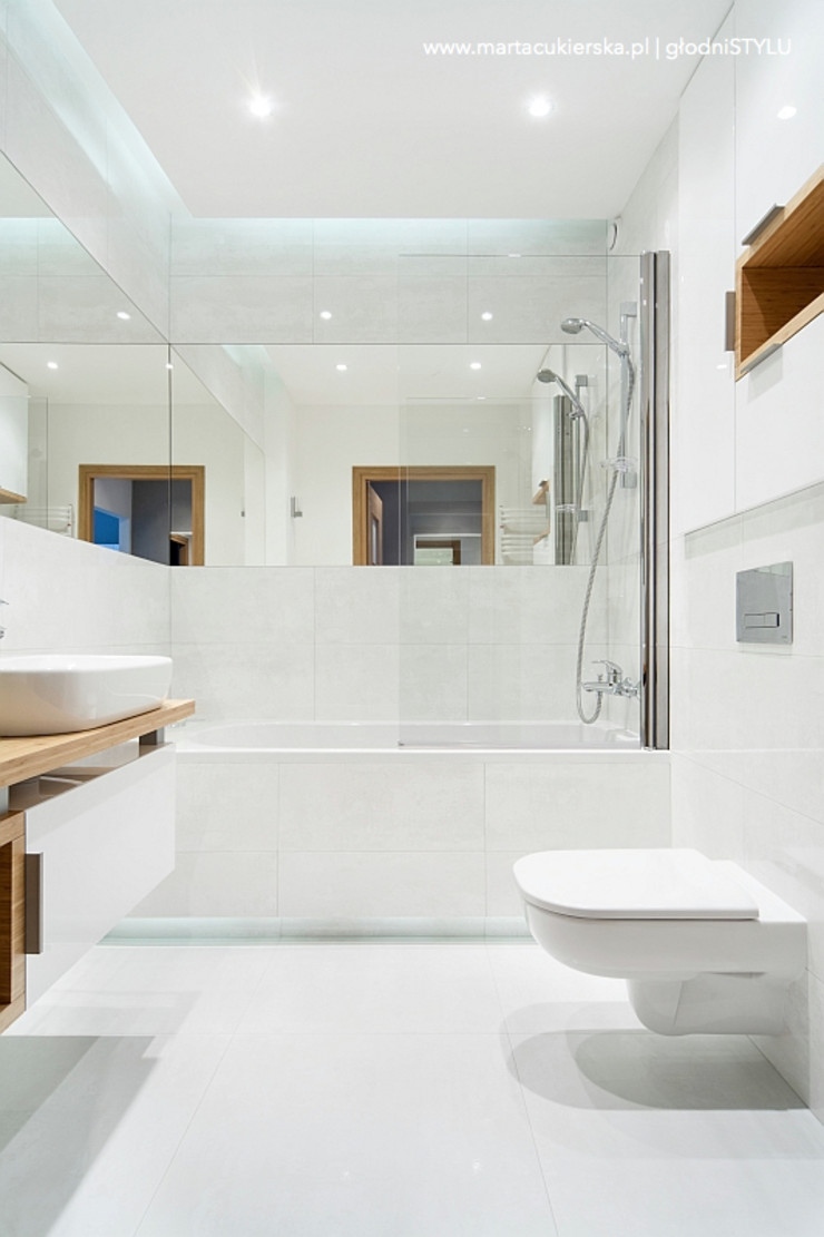 głodni STYLU pracownia projektowa Modern bathroom