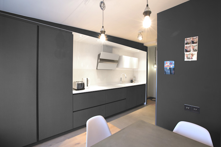 GRUPA HYBRYDA 現代廚房設計點子、靈感&圖片