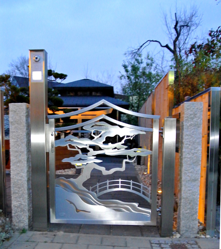 Edelstahl Atelier Crouse: Asian style garden Metal