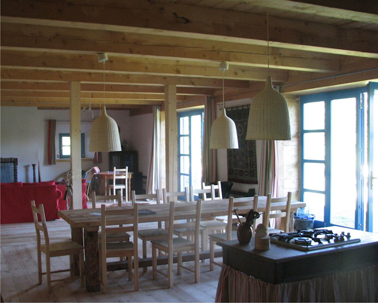 Pracownia Tutaj Country style dining room