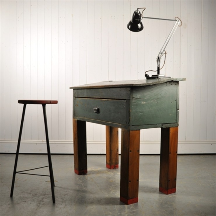 Repurposed Factory Desk Original House EstudioEscritorios