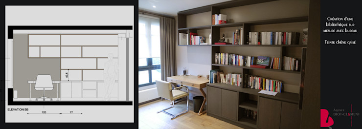 grande bibliothèque Agence Diot-Clément Bureau moderne