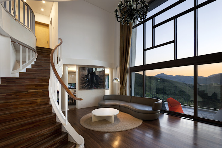 A house on the cliff studio_GAON Modern living room