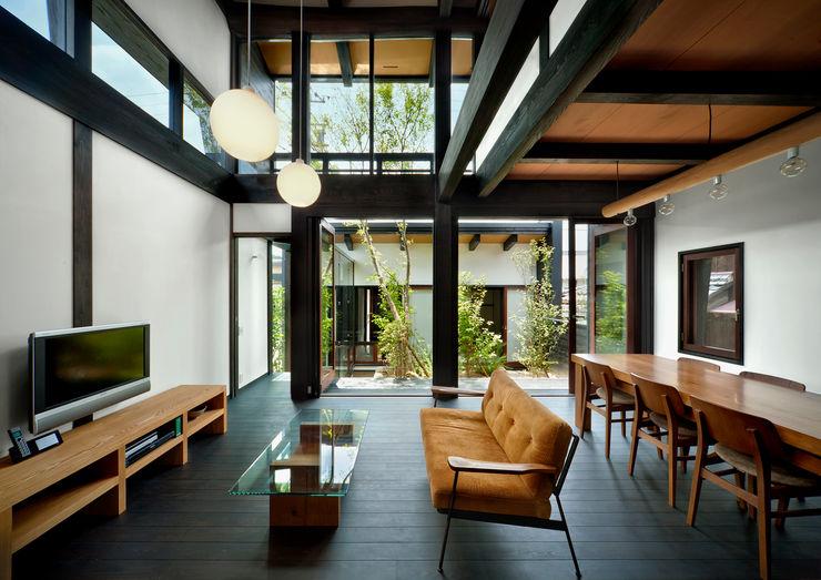 居間・食堂 石井智子/美建設計事務所 和風デザインの リビング