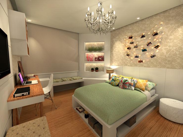 Quarto Júlia - RJ Konverto Interiores + Arquitetura Quartos modernos