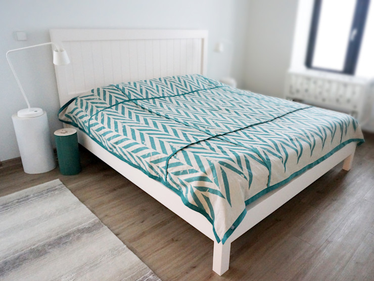 ZIGZAG printed linen bedding by Lovely Home Idea LOVELY HOME IDEA 臥室布織品