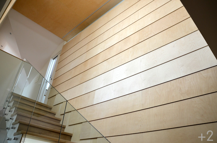 #unifamiliarVALDEMORILLO +2 Pasillos, vestíbulos y escaleras de estilo moderno