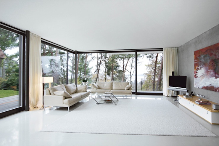 THOMAS BEYER ARCHITEKTEN غرفة المعيشة