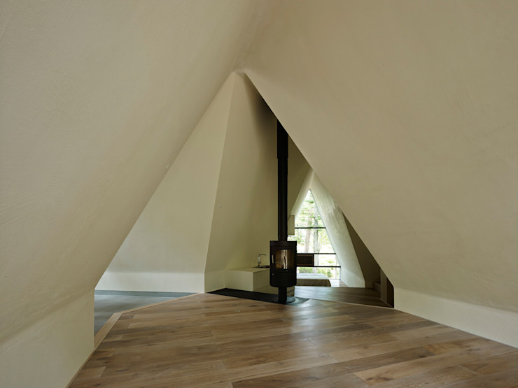 Forest House カスヤアーキテクツオフィス(KAO) Modern Living Room
