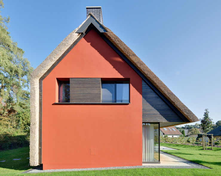 Giebelfassade asymmetrisch Möhring Architekten Moderne Häuser