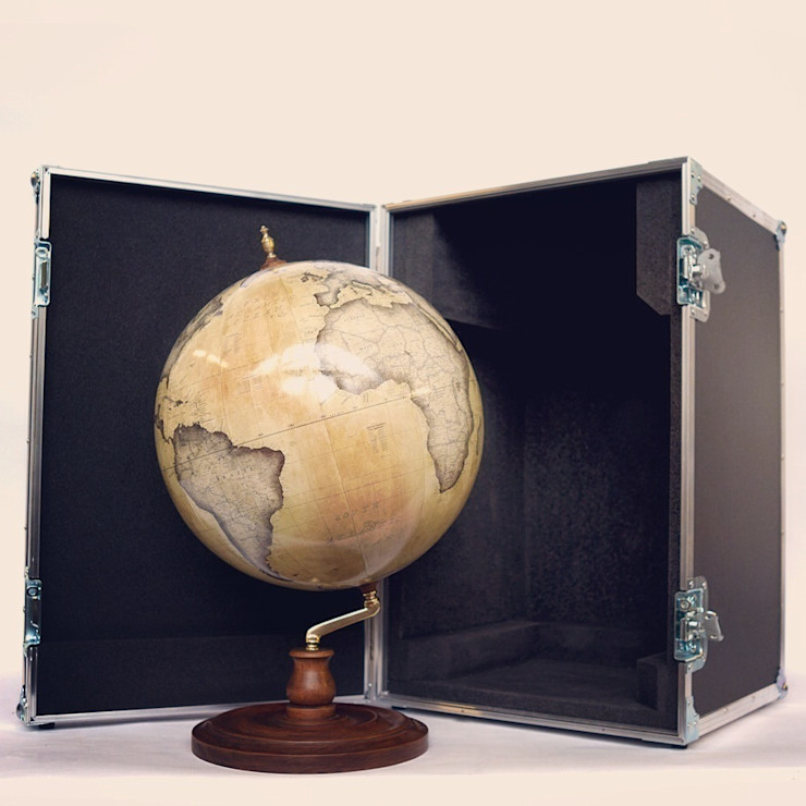 Bellerby & Co Livingstone Globe and Bespoke Flightcase Bellerby and Co Globemakers HaushaltAccessoires und Dekoration