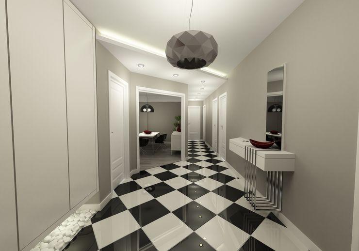 Niyazi Özçakar İç Mimarlık Modern Corridor, Hallway and Staircase