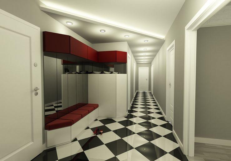 Niyazi Özçakar İç Mimarlık Modern corridor, hallway & stairs