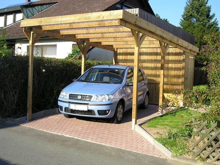 Einzelcarport aus Holz mit Abstellraum/Geräteraum Deutsche Carportfabrik GmbH & Co. KG Garage/Schuppen
