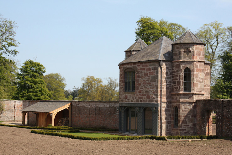 Elevation with Adjacent Service Lean-too Architects Scotland Ltd Country style hotels