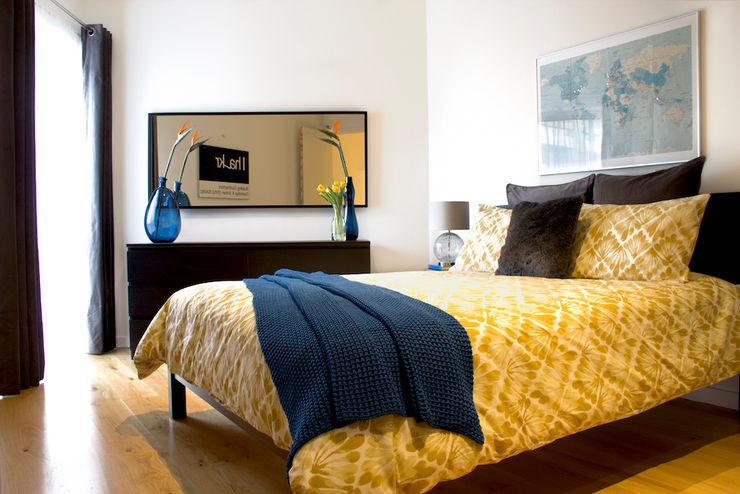Hampstead Heath Apartment Bhavin Taylor Design Eclectic style bedroom