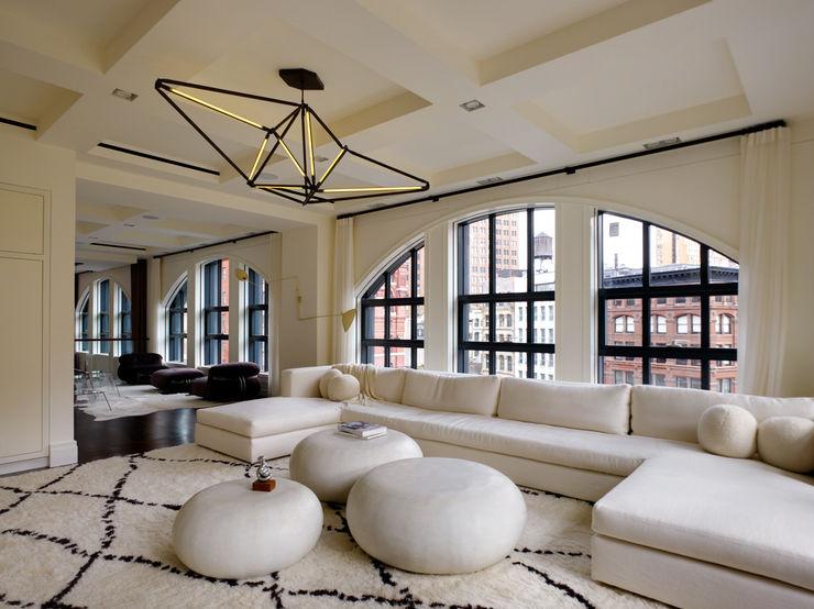 Franklin Street, New York studioMDA Salones de estilo moderno