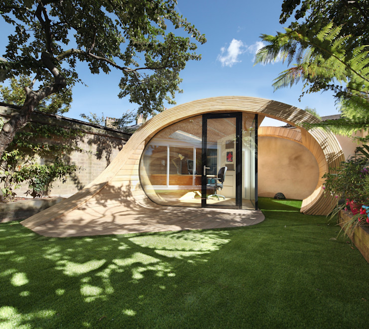 Shoffice Platform 5 Architects LLP Modern Garage and Shed