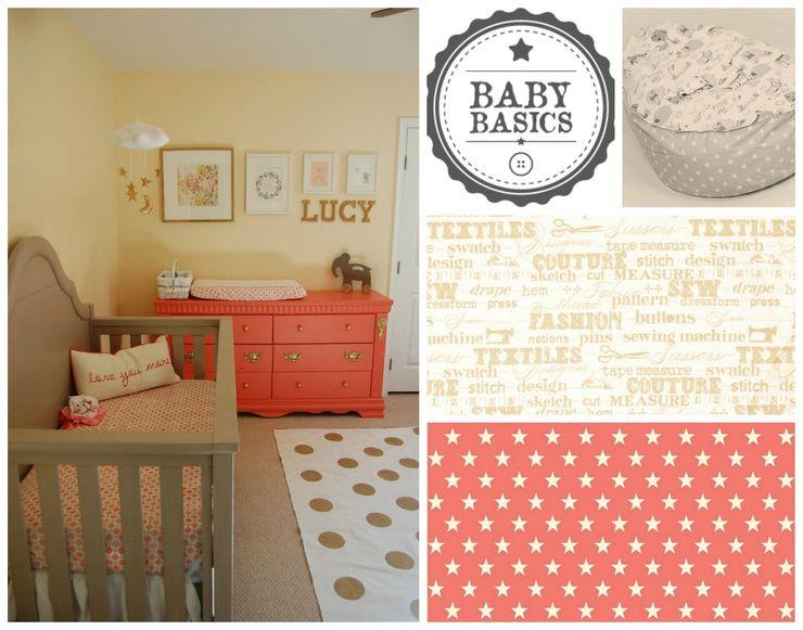 Coral & Gold Sky Inspiration BabyBasics Habitaciones infantilesAccesorios y decoración