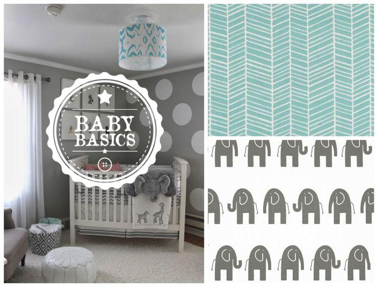 Turquoise Elephants Inspiration BabyBasics Habitaciones infantilesAccesorios y decoración