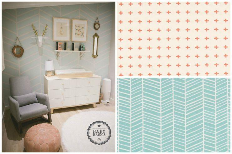 Blue & Salmon Inspiration BabyBasics Habitaciones infantilesAccesorios y decoración