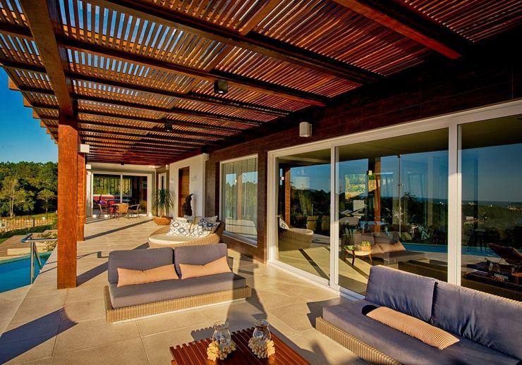 Espaço do Traço arquitetura Balcon, Veranda & Terrasse modernes