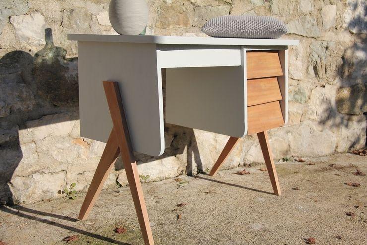 """""""Martin"""" : Superbe bureau vintage aux lignes scandinaves Sérénisse BureauBureaux"""