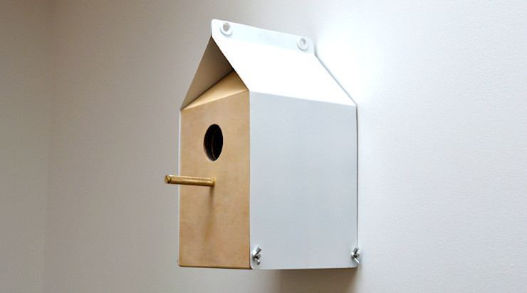 MILK CARTON INSPIRED NESTBOX / BIRDHOUSE Jam Furniture 정원액세서리 & 장식