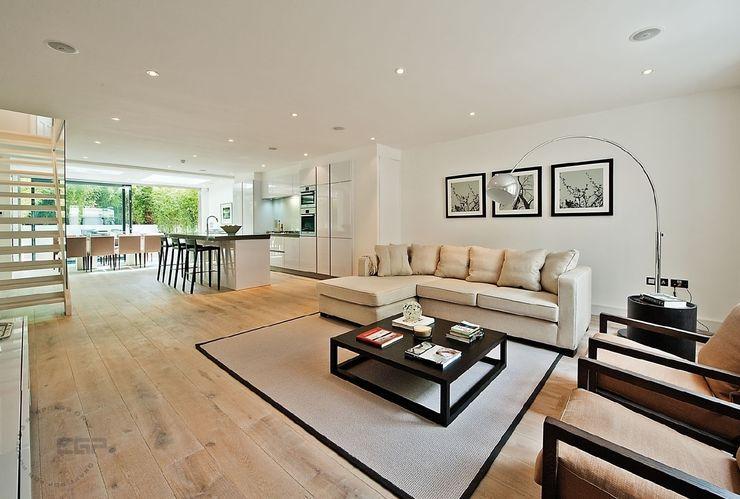 Chelsea Family House Black and Milk   Interior Design   London Modern Media Room