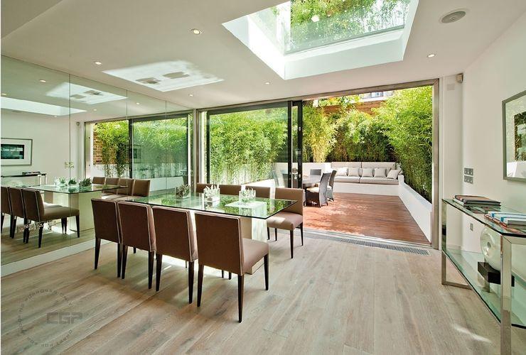 Chelsea Family House Black and Milk   Interior Design   London Modern Dining Room