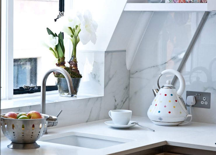 City Pied a Terre Black and Milk | Interior Design | London Кухня