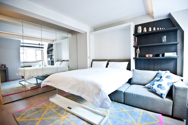 City Pied a Terre Black and Milk | Interior Design | London Modern style bedroom
